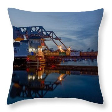Mystic Drawbridge At Twilight Throw Pillow