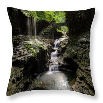 Mystic Falls Throw Pillow