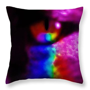 Mystic Feline Throw Pillow