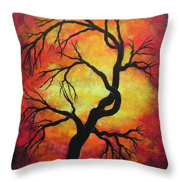 Mystic Firestorm Throw Pillow by Jordanka Yaretz