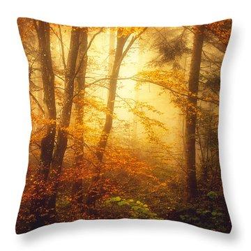 Mystic Fog Throw Pillow