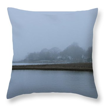 Mystic Fog Throw Pillow by Rick  Monyahan