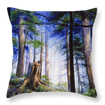 Mystic Forest Majesty Throw Pillow