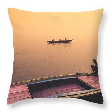 Mystic Ganges Throw Pillow