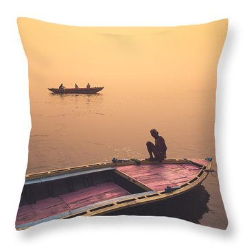 Mystic Ganges Throw Pillow
