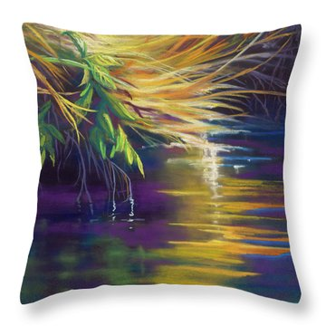 Mystic Grasses Throw Pillow