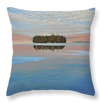 Throw Pillow featuring the painting Mystic Island by Kenneth M  Kirsch
