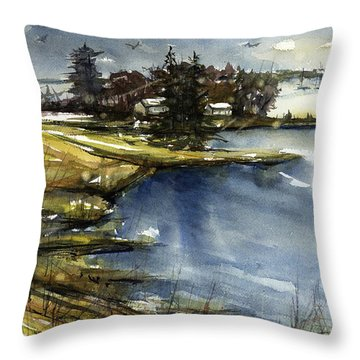 Mystic Throw Pillow by Judith Levins