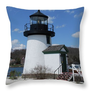 Mystic Lighthouse Throw Pillow by Gordon Mooneyhan