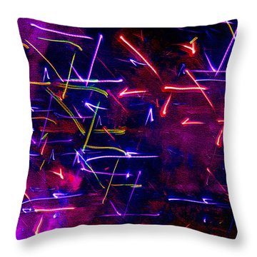 Throw Pillow featuring the digital art Mystic Lights 8 by Donna Corless