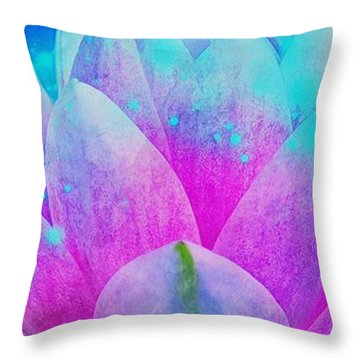Mystic Lotus Throw Pillow