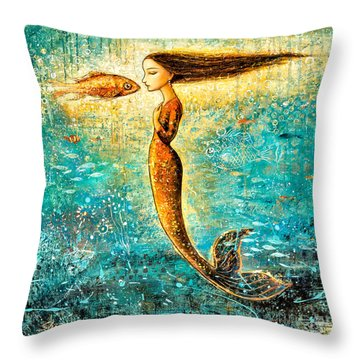 Mystic Mermaid Iv Throw Pillow