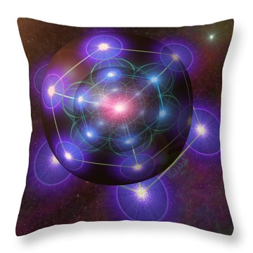 Mystical Metatron Throw Pillow
