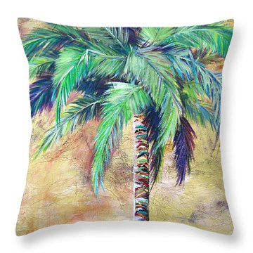 Mystic Palm Throw Pillow by Kristen Abrahamson