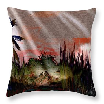 Mystic People Of The Mountain Throw Pillow