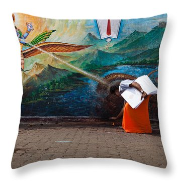 Mystic Ray Throw Pillow