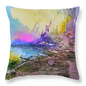 Throw Pillow featuring the painting Mystic Rendevous by Mary Sullivan