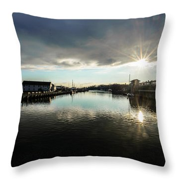 Mystic River Throw Pillow