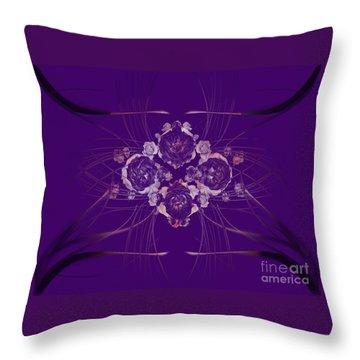 Mystic Roses Throw Pillow