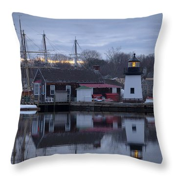 Throw Pillow featuring the photograph Mystic Seaport by Kirkodd Photography Of New England