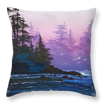 Mystic Shore Throw Pillow by James Williamson