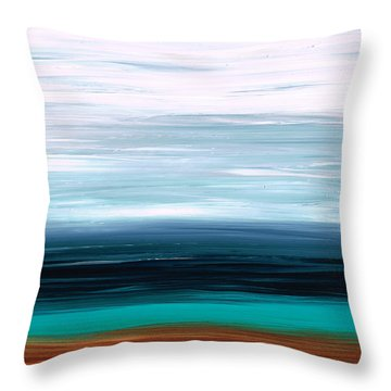 Mystic Shore Throw Pillow