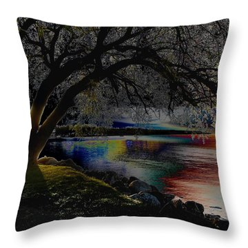 Mystic Sunset Cereal Throw Pillow