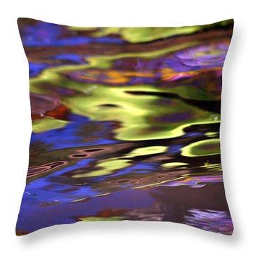 Mystic Topaz Throw Pillow