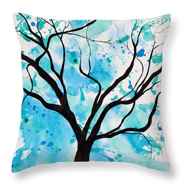 Mystic Tree Throw Pillow