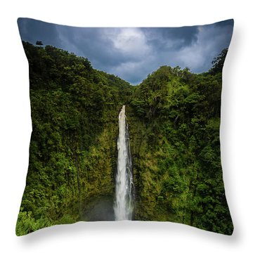 Throw Pillow featuring the photograph Mystic Waterfall by Break The Silhouette