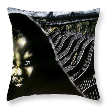 Mystic Waves Throw Pillow by Chester Elmore