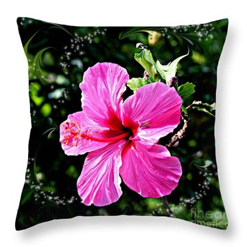 Throw Pillow featuring the photograph Mystical Bloom by The Art of Alice Terrill