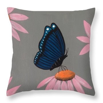 Mystical Butterfly Throw Pillow