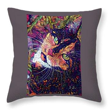 Mystical Calico  Throw Pillow