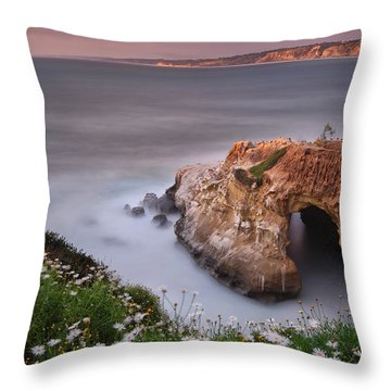 Mystical Cave Throw Pillow