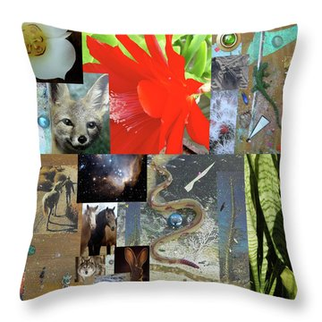 Mystical Desert Compilation Throw Pillow