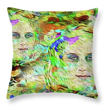 Mystical Eyes Throw Pillow