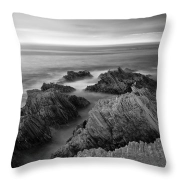 Mystical Moment Bw Throw Pillow