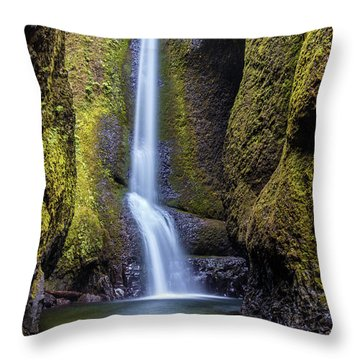 Mystical Oneonta Falls Throw Pillow