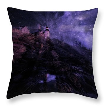 Mystical Pemaquid Throw Pillow by Wade Aiken