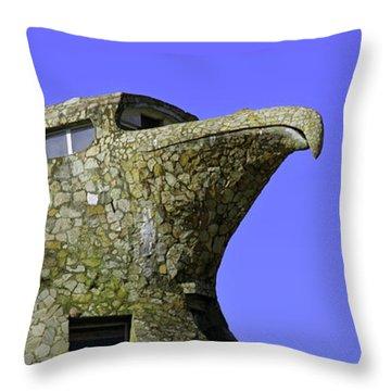 Mystical Place The Stone Eagle Of Atlantida Throw Pillow