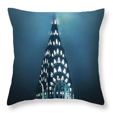 Mystical Spires Throw Pillow