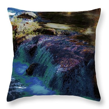 Mystical Springs Throw Pillow by DigiArt Diaries by Vicky B Fuller