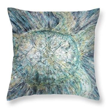 Mystical Sea Turtle Throw Pillow