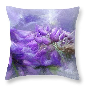 Throw Pillow featuring the photograph Mystical Wisteria By Kaye Menner by Kaye Menner