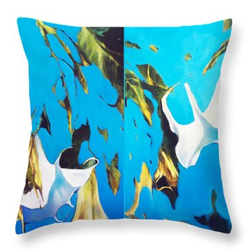 Mysticoblue Throw Pillow
