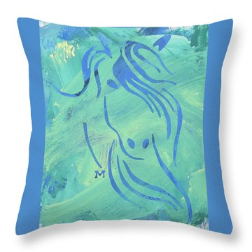 Throw Pillow featuring the painting Mystique by Candace Shrope