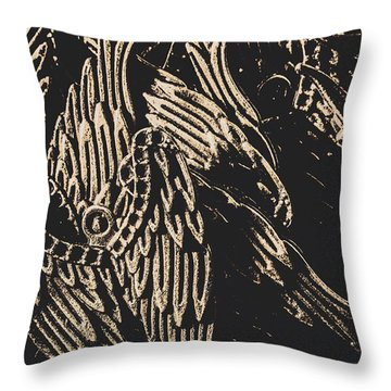 Mythical Angels From History Past Throw Pillow