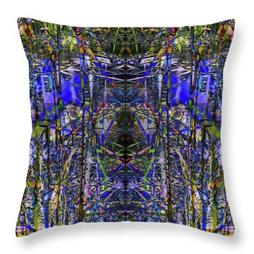 Winter Walk In The Weeds Throw Pillow