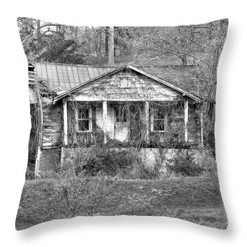Throw Pillow featuring the photograph N C Ruins 1 by Mike McGlothlen